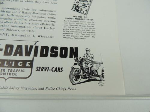 1950/'s Harley-Davidson Police Jersey City Servi-Car Advertisement L4180