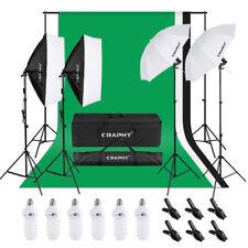 Profi Fotostudio Kit Hintergrundsystem 2x Softbox Studioset 3X Hintergrundstoffs