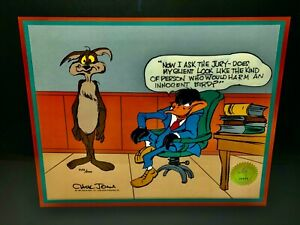 Warner Bros Animation Cel Daffy Duck Wile E Coyote The Lawyer Signed Chuck Jones