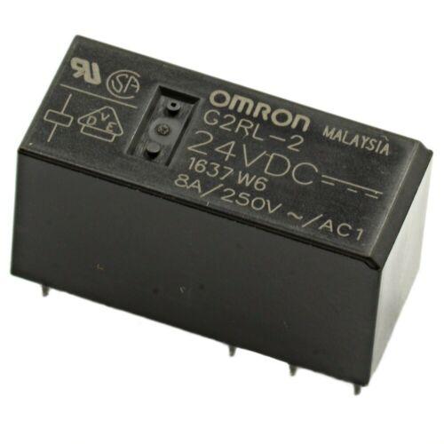 Relè doppio scambio 2 scambi Omron G2RL-2 DC24 24V DC 8A 250V DPDT