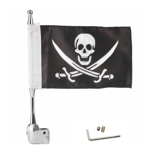 Motorrad Pirat Flagge Fahne Fahnenmast für Honda Goldwing GL1800 2001-2011 AF