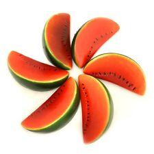 ALEKO 6 Watermelons Artificial Lifelike Plastic Home Decor Fake Fruits