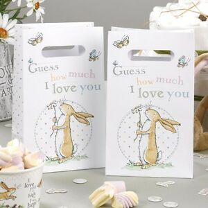Guess-How-Much-I-Love-Party-Bags-Pk-10-Baby-Shower-Christenings-Baby-Boy-or-Girl
