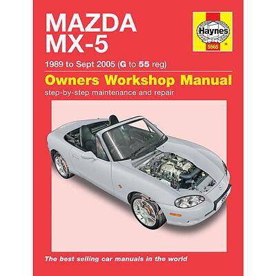 HAYNES MANUAL Mazda Mx-5 Mx5 1989- Sep 2005 (G To 55 Reg)
