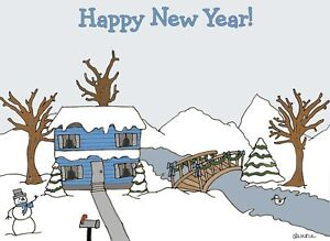 image is loading happy new year winter scene christmas holiday cards