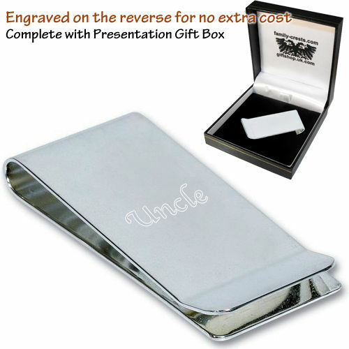 Uncle Family Engraved Money Clip Gift