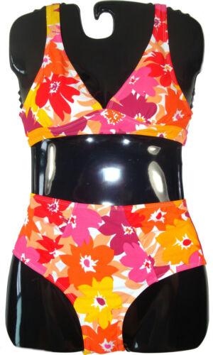 Damen Bikini fraulicher Stil mit Büsten Polsterung und Hüftpant Größen 38-48