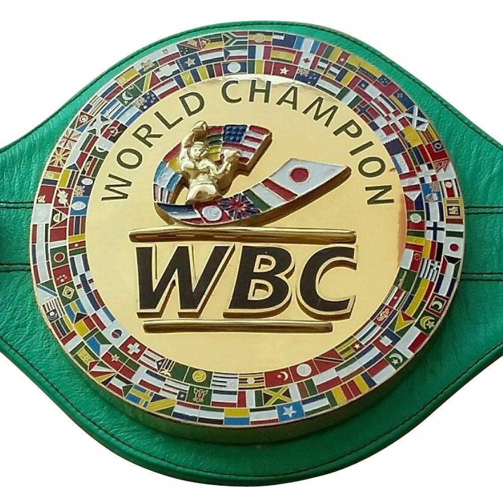 Nuevo Campeonato WBC cinturón de boxeo 3D Cuero Real Adulto