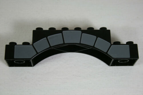 Lego Duplo Ritterburg Schloß schwarzer Torbogen mit Druck aus 4863 X