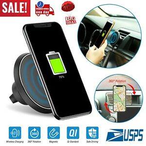 Qi-Wireless-Car-Charger-Magnetic-Air-Vent-Mount-Holder-For-Iphone-X-8-Samsung-S9