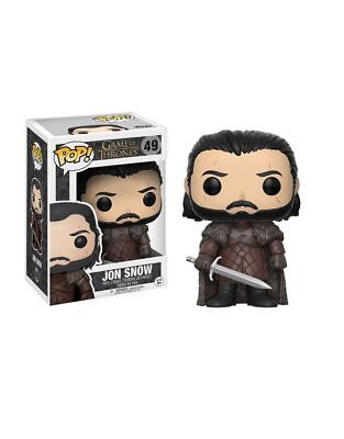 FUNKO POP JON SNOW 49 GAME OF THRONES FIGURE 9 CM TRONO DI SPADE SERIE TV #1