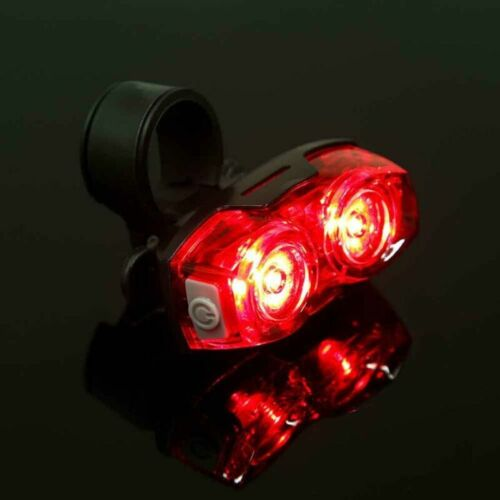 For Bike Cycling Bicycle 2 Led Tail Rear light Red Safety Warning Flashing Lamp