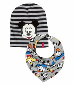 H M baby boy Disney Mickey Mouse cotton jersey Hat and Triangular ... 7aa0dec8073b