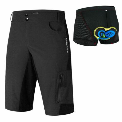Herren Sports Radhose MTB Downhill Fahrrad kurze Hose Baggy Cycling Shorts