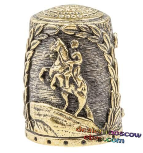 Bronze Solid Brass IronWork Thimble Views of Saint Petersburg