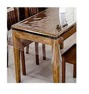 Tablecloth Clear Plastic Waterproof Transparent Heavy Duty Dining Table Cover Ebay