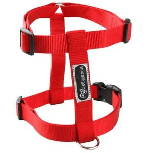 NEW-WHOLESALE-LOT-OF-10-DOG-NYLON-HARNESSES-SIZE-MEDIUM-COLOR-RED