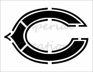 034-C-Chicago-Bears-034-Equipe-De-Football-8-5-034-X-11-034-Stencil-Feuille-de-Plastique-Neuf-S110