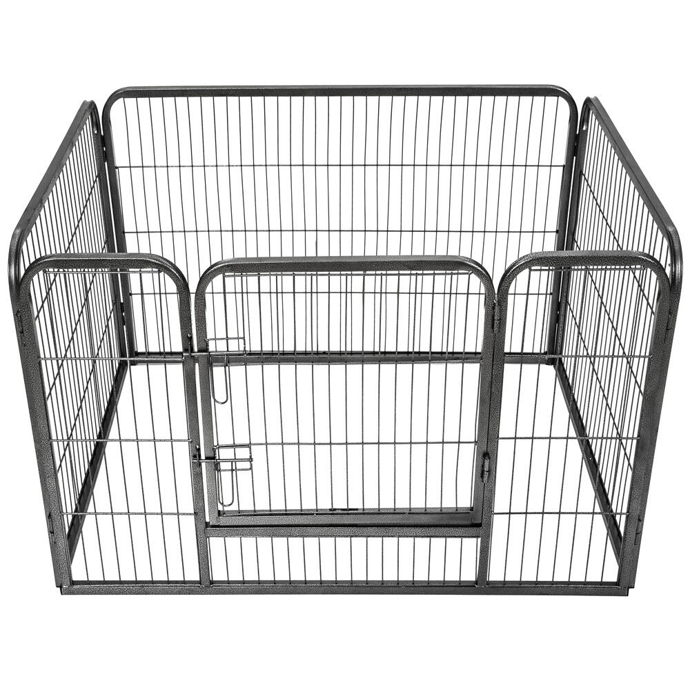 GRANDE Animale Cucciolo Recinto BOX recinto gabbia in esecuzione libera Cane Coniglio in metallo