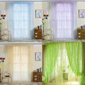 Floral-Tulle-Voile-Door-Window-Curtain-Drape-Panel-Sheer-Scarf-Valances-Decor