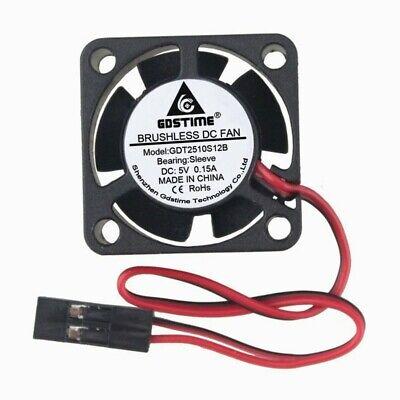 2Pcs//Lot 25x25x10mm Mini DC Brushless Cooling Cooler Fan 12V 2Pin 25mm
