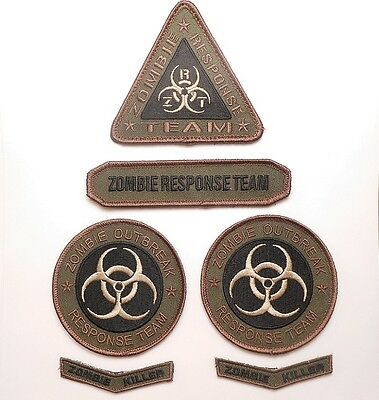 ZOMBIE OUTBREAK RESPONSE TEAM FOREST VELCRO® BRAND FASTENER PATCH SET