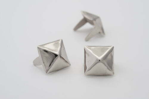 StudsAndSpikes 3//8 inch silver pyramid studs for clothing Bag of 500