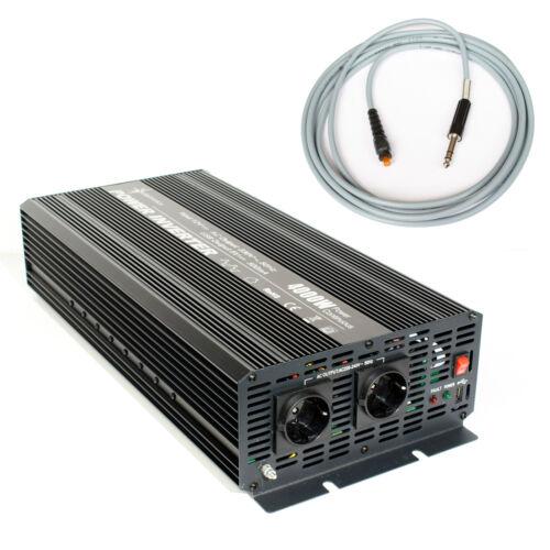 Convertisseur de tension Inverter 12 V 4000//8000 Watt Incl Télécommande filaire