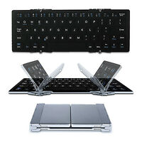 Foldable Pocket Bluetooth Wireless Keyboard Compact Phone Tablet Pc Rechargeable