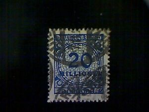 Stamps-Germany-Scott-302-used-o-1923-Inflation-Era-20-million-marks