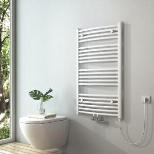 Elektrisch Badheizkörper 100x60cm Weiß Elektrischer Handtuchtrockner Heizkörper
