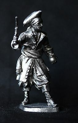 Pirate of Caribbean Tin toy soldier 54 mm., figurine, metal sculpture.