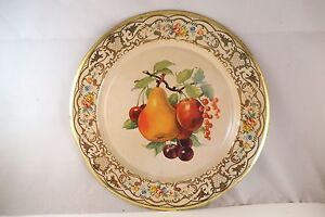 Vintage Daher Decorated Ware Made in Holland Tin Plate Fruit Pear Cherries B