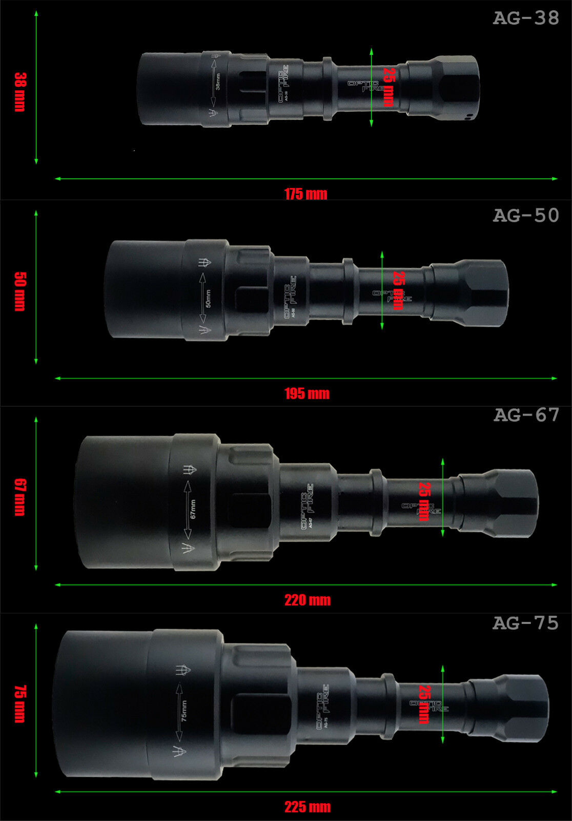 Opticfire® AG LED Hunting torch IR NV night vision lamping scope lamp lamping vision gun light 084fc7