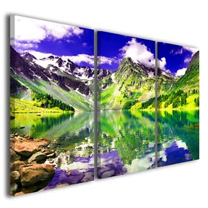 Quadri paesaggi natura panorama 175x90 intelaiati stampe su tela XXL 3266
