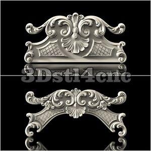 2-3D-STL-Models-Crown-Decor-for-CNC-Router-Carving-Machine-Artcam-aspire-Cut3D