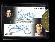 Star Trek Voyager Heroes and Villains Jeri Ryan & Kate Mulgrew auto. card