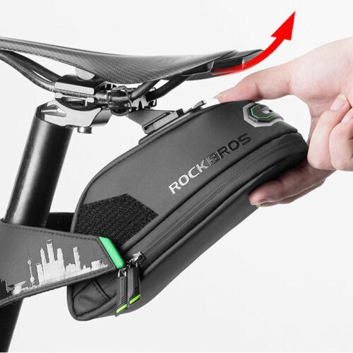 ROCKBROS Rainproof Bicycle Bag Shockproof Bike Saddle Bag For Bicycle Black Cycl
