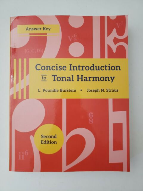 Concise Introduction to Tonal Harmony Answer Key Second ...
