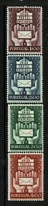 Portugal-SC-713-716-Mint-Hinged-Hinge-Remnants-713-ink-page-remnant-S6715