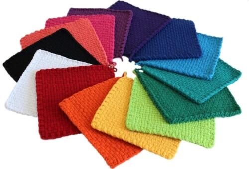 """7/"""" Bright Lotta Loops 8 Potholders Traditional Loom 100/% Cotton Assorted Color"""
