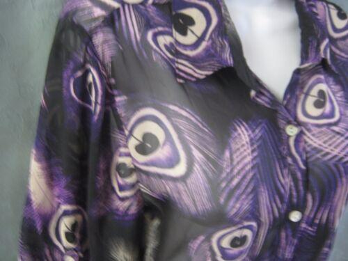 Sere Nade Sheer Junior's Blouse Plus Size 1X Purpl