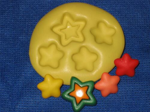 Candy Stars Flexible Push Mold Food Safe Silicone #994 Cake Chocolate Resin Clay