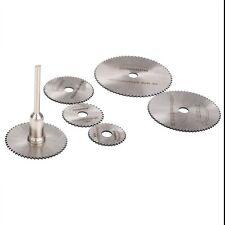 Circular Saw Blades Cutting Discs Mandrel HSS Rotary Tool for Dremel Cutoff 6PCS