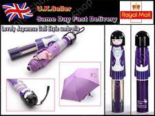 Lovely Japanese Doll Style umbrella Anti-UV Rainproof Folding Bottle Purple