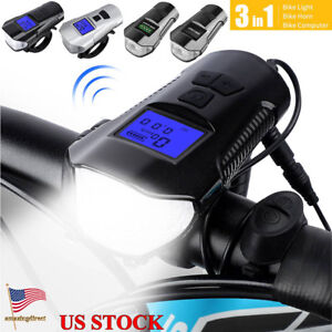 Bicycle-Light-USB-Rechargeable-Cycling-Electric-Horn-Bell-Handlebar-Headlight
