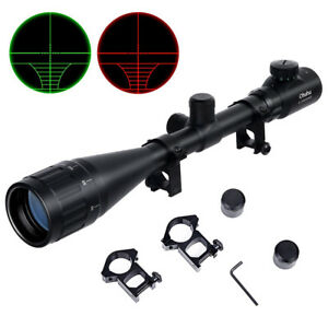 Optics-Hunting-Rifle-Scope-6-24x50-AOE-Red-Green-Illuminated-Gun-scopes-Mounts