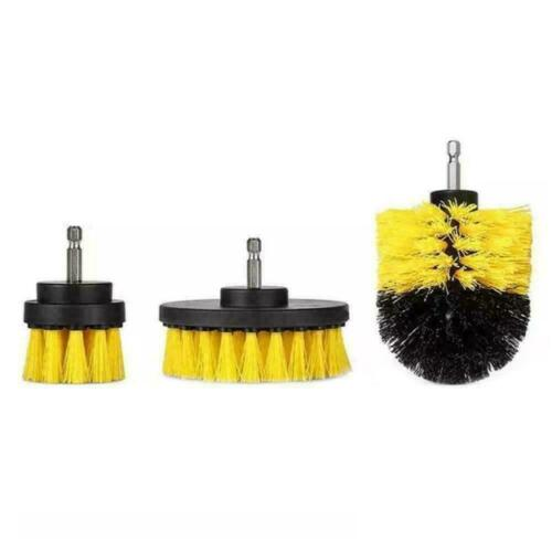 3Pcs Tile Grout Drill Brush Power Scrub Cleaning Tub Cleaner Attachment Kit M9K2