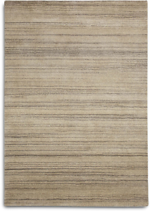 Details About Plantation Simply Natural Rug 120x170cm Sim04 Beige Striped Wool Rrp 175