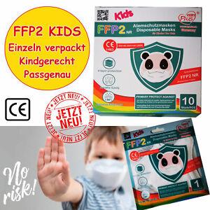 5x 10x 20x FFP2 Kindermasken Maske Atemschutz Mundschutz 4 lagig CE zertifiziert